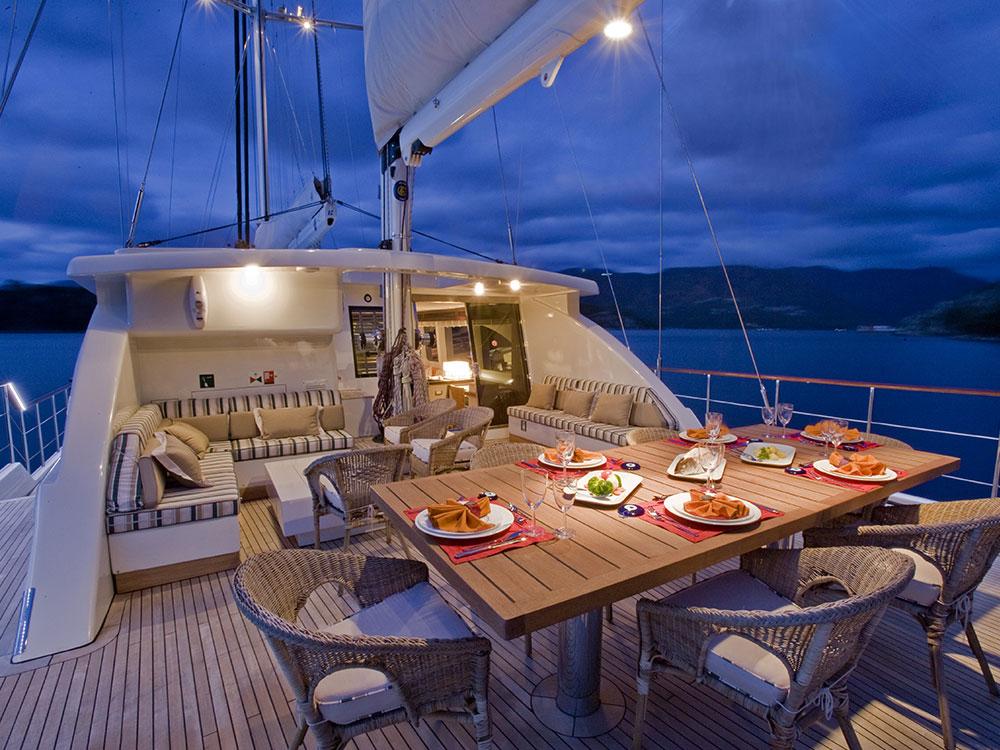 M/S Sailing Nour cockpit