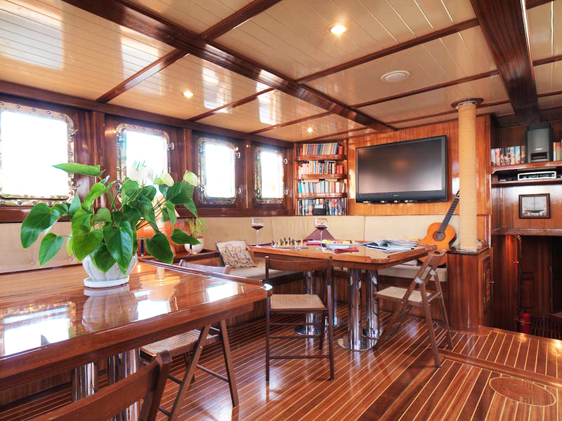 Myra yacht for sale saloon