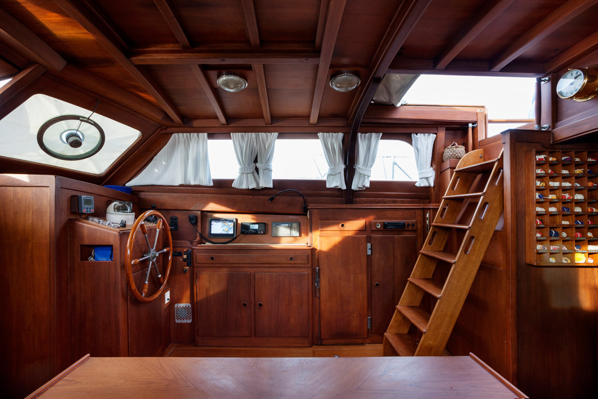 Oliria sailing yacht for sale interiors