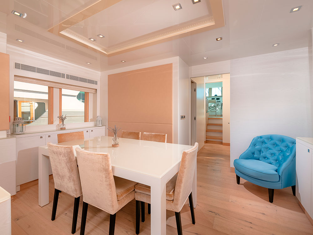 virgin gold yacht interior salon