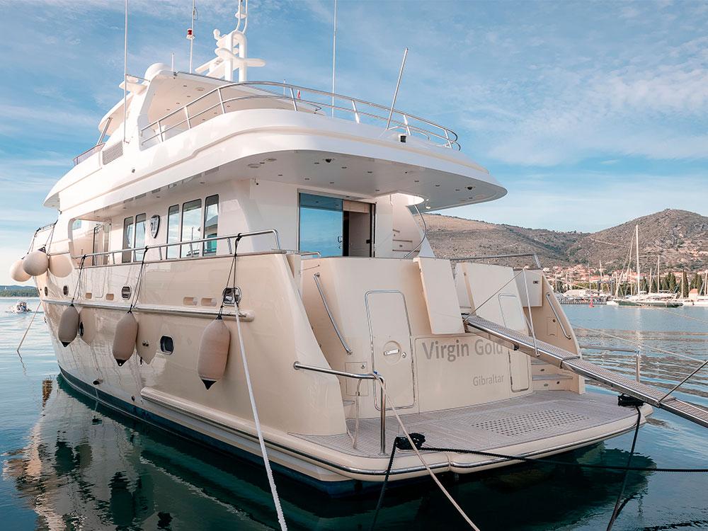 virgin gold motor yacht