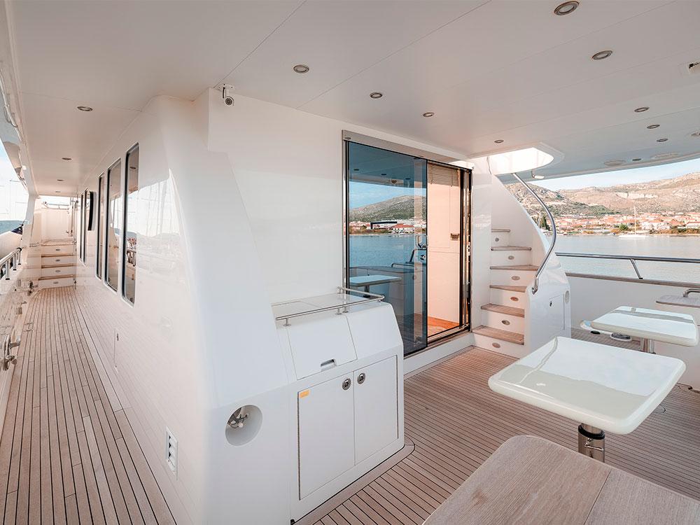 virgin gold yacht exterior table