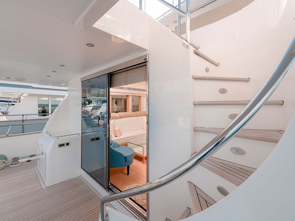 virgin gold yacht external ladder