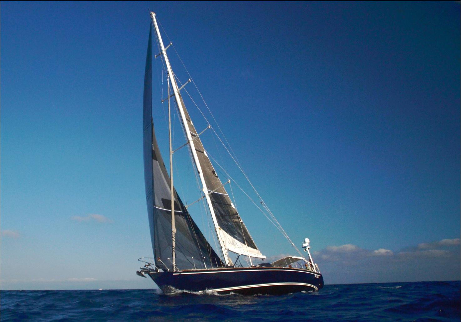 south wind 65 under sail