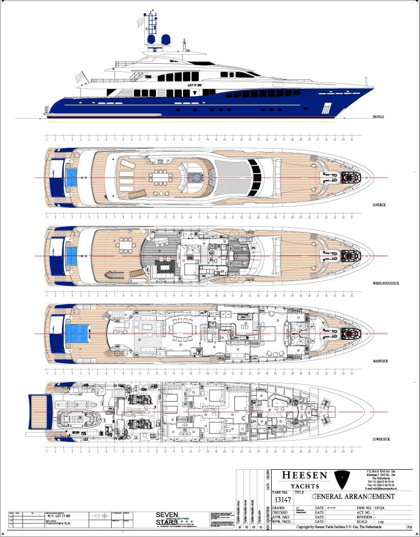 let it be yacht layout