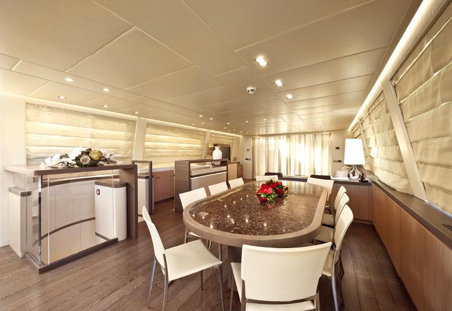 musa ab yachts interior salon table
