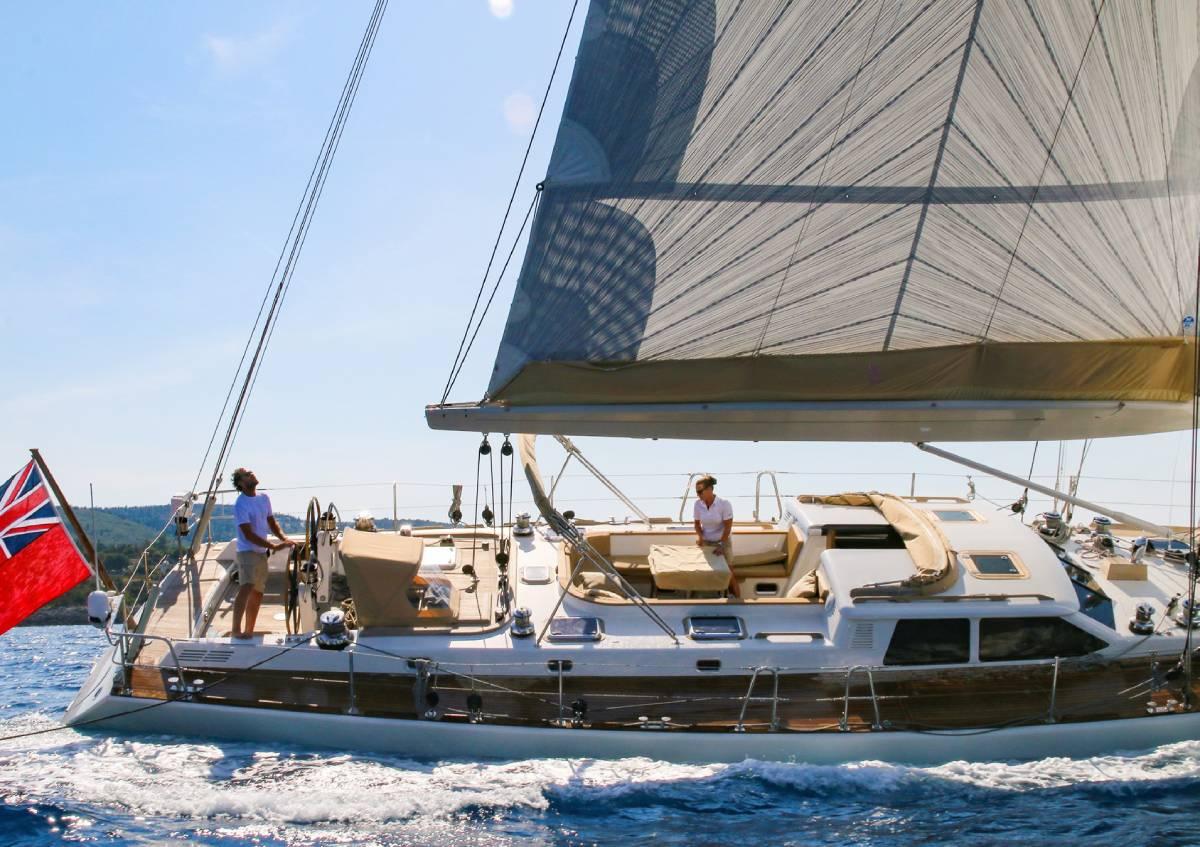 Camilla of London sails