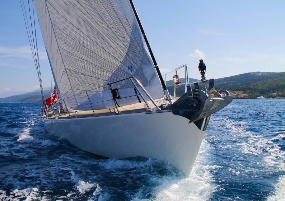 Camilla of London under sails