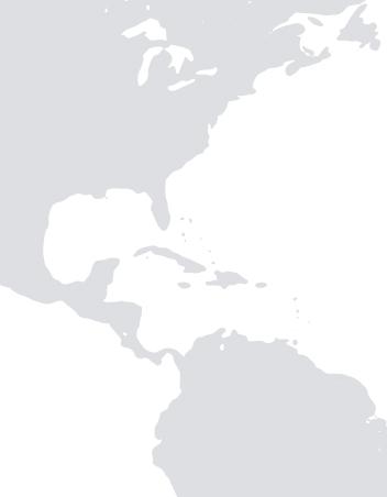 Mappa Caraibi